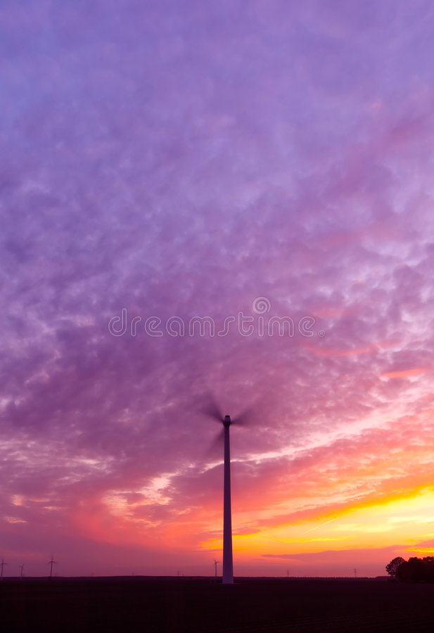 заход солнца энергии стоковое фото rf