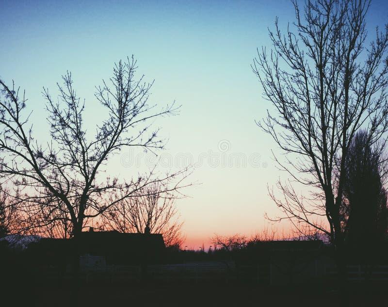 Заход солнца Юты стоковое изображение rf