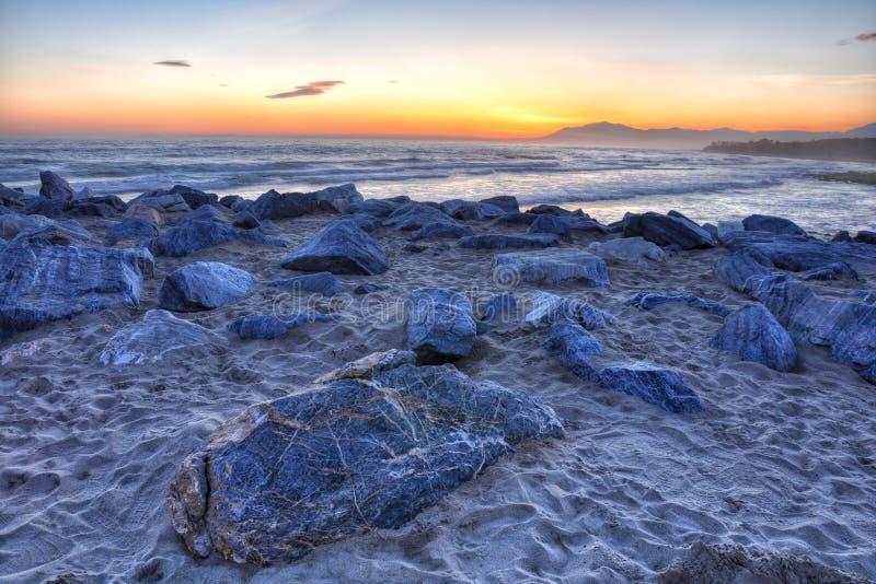 заход солнца 3 красивейший Коста del sol стоковые фотографии rf