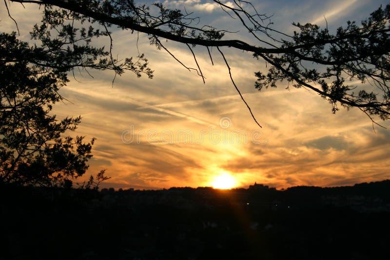 заход солнца 5 Стоковое фото RF