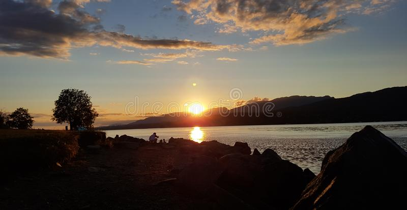 Заход солнца стоковые изображения rf