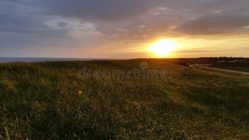 Заход солнца Blavand стоковое изображение