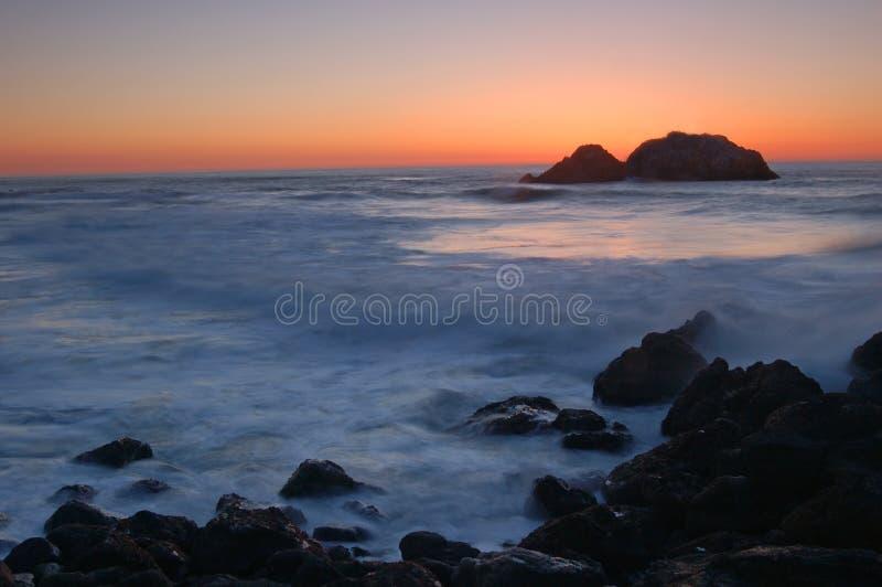 заход солнца california северный стоковые изображения rf