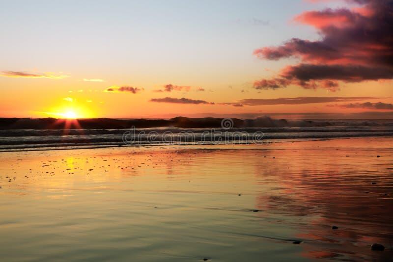 заход солнца california стоковое изображение rf