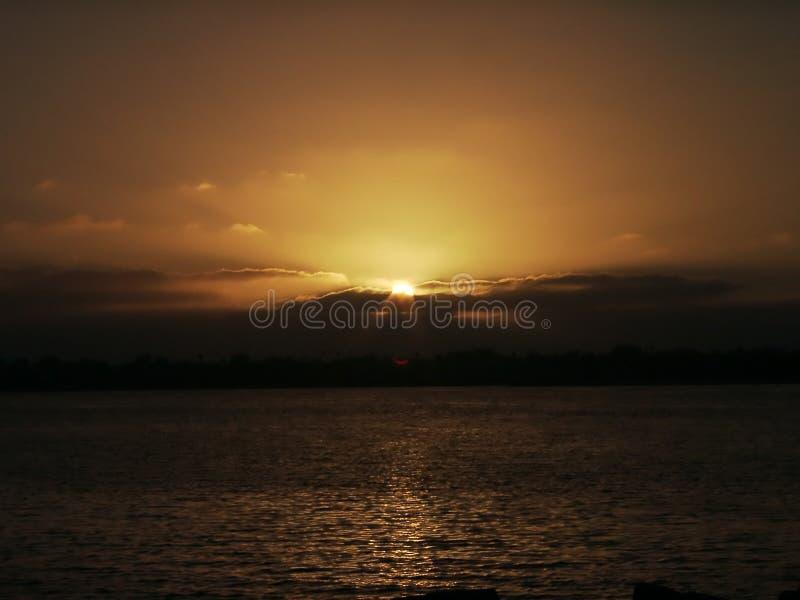 заход солнца Diego San Стоковое Фото