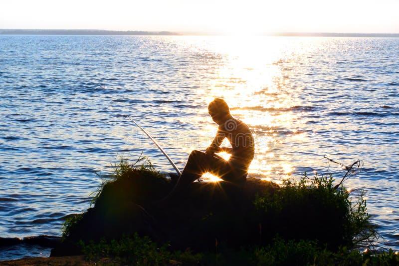 заход солнца fisher стоковое изображение