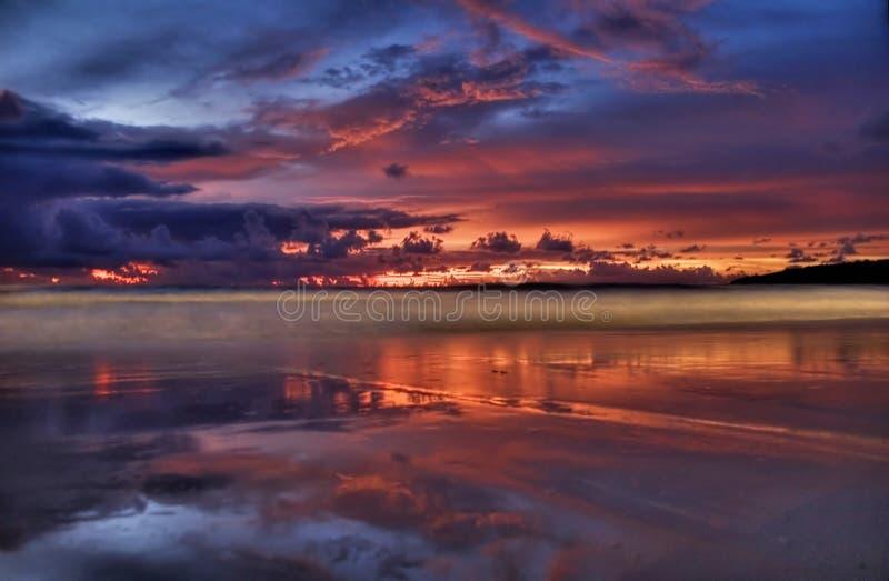 заход солнца karon стоковое изображение rf