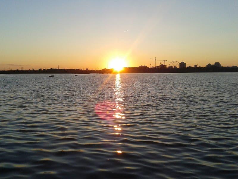 заход солнца kazan стоковая фотография rf