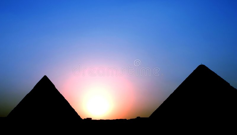 заход солнца keops стоковая фотография rf