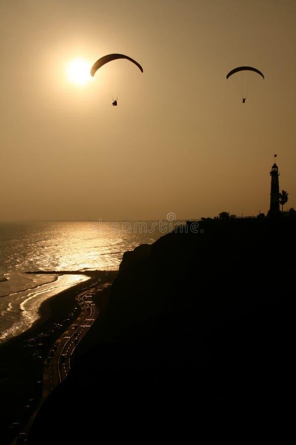 заход солнца lima стоковое изображение rf
