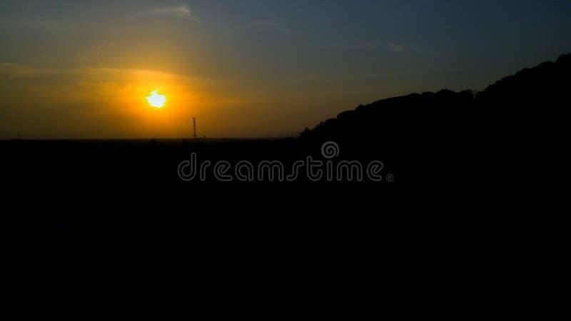 Заход солнца Montain стоковое фото rf