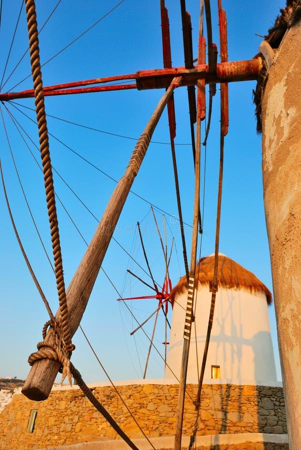Download заход солнца mykonos стоковое изображение. изображение насчитывающей конструкция - 18399201