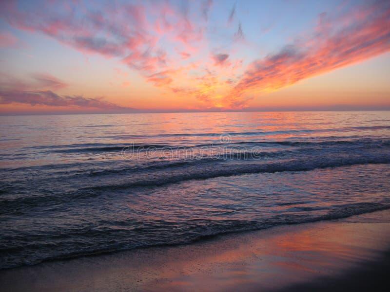 заход солнца orre пляжа стоковые изображения rf