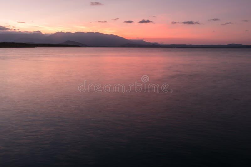 Заход солнца Port Douglas стоковая фотография rf
