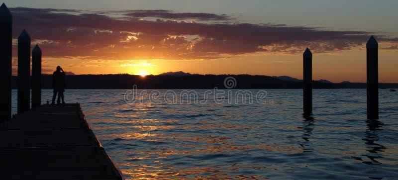 заход солнца redondo стоковые изображения