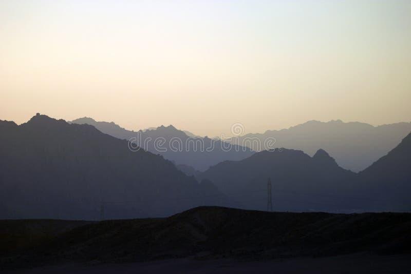 заход солнца sinai стоковая фотография rf