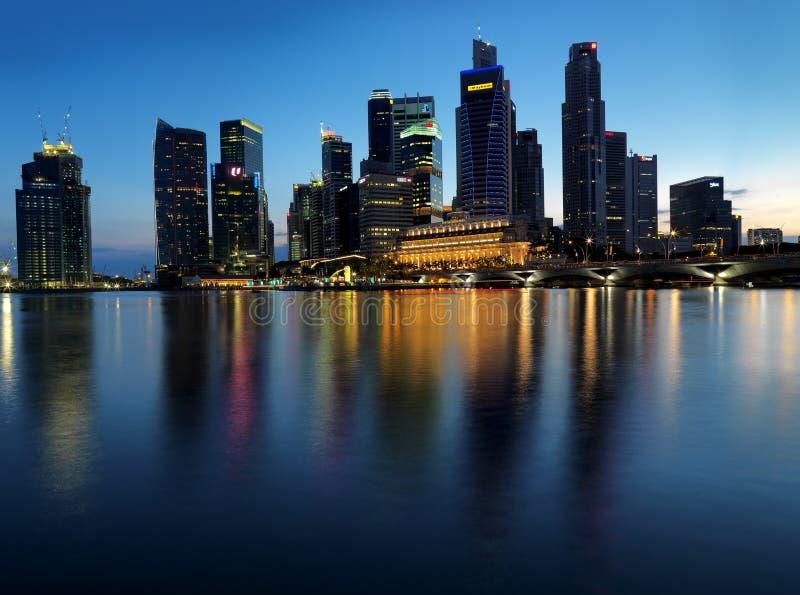 заход солнца singapore изображения экстренного ландшафта большой стоковое фото