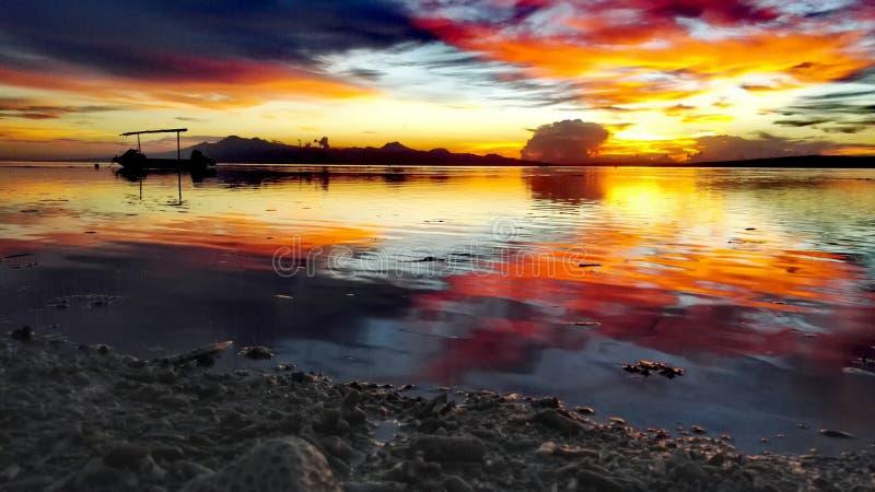 Заход солнца Siquijor стоковая фотография rf