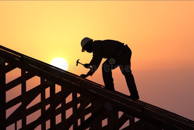 заход солнца st roofer стоковые изображения rf