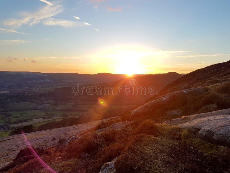 Заход солнца Sunglint стоковые изображения rf