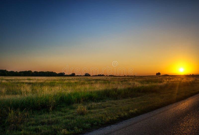 заход солнца texas стоковое фото rf