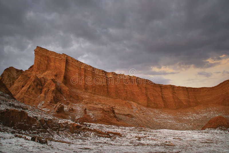 заход солнца valle luna la de стоковые фотографии rf