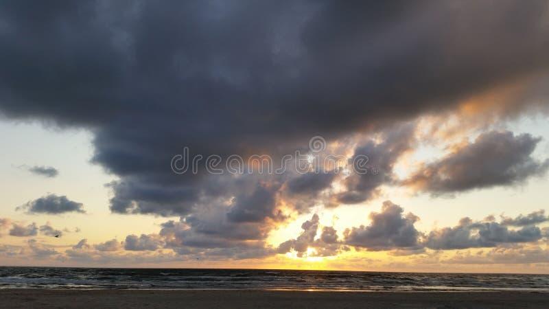 Заход солнца Vejers стоковое фото rf