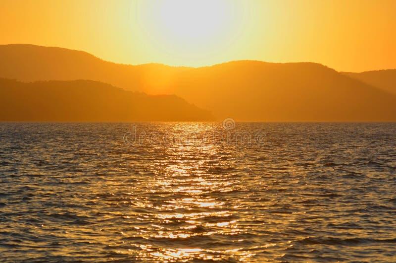 Заход солнца Whitsundays стоковые изображения