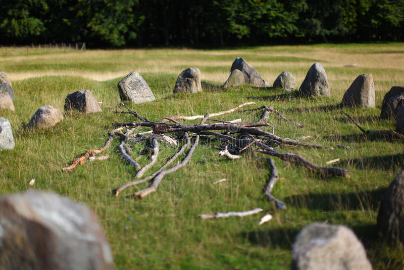 захоронение Дания земной viking стоковое фото rf