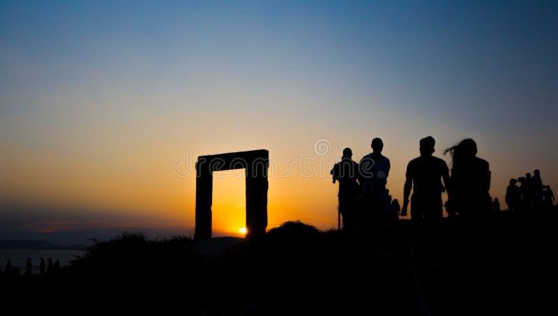 Заход солнца Аполлона стоковая фотография rf