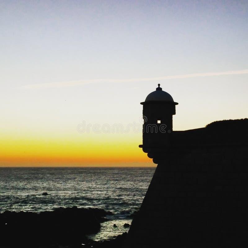 Заход солнца Атлантического океана стоковое изображение