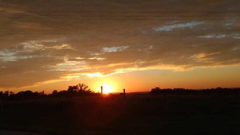 Заход солнца Алабамы стоковое изображение
