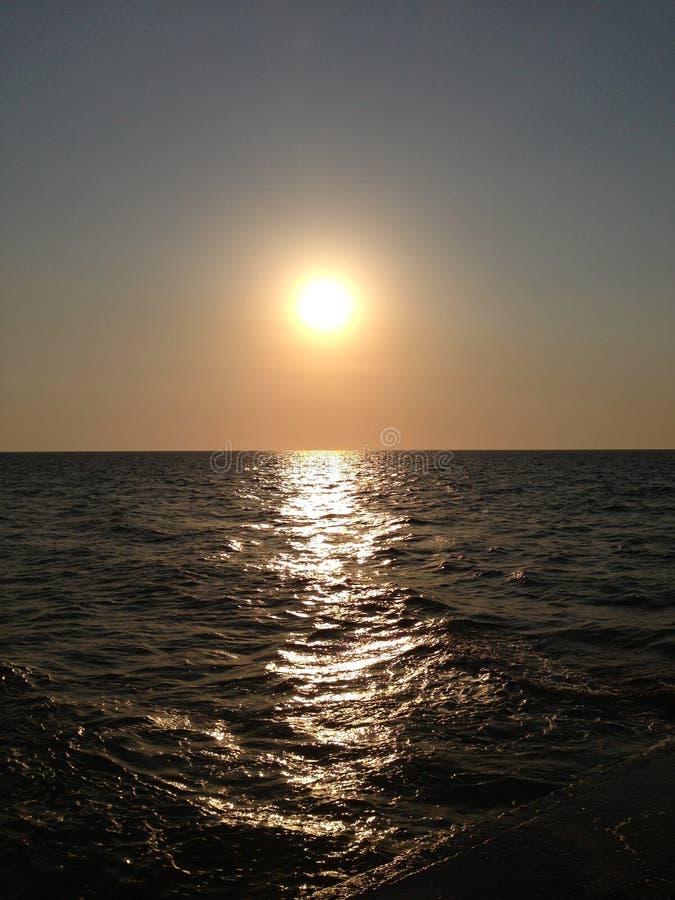 Заход солнца безграничности стоковые изображения rf