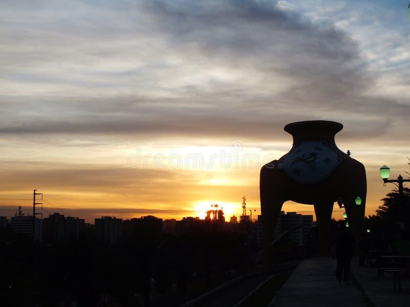 Заход солнца Венесуэла стоковая фотография rf