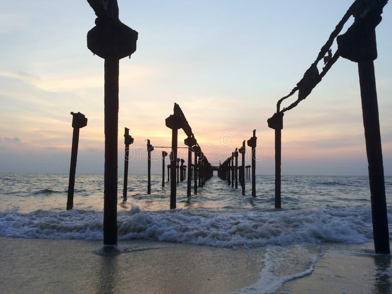 Заход солнца @ Венеция стоковое фото