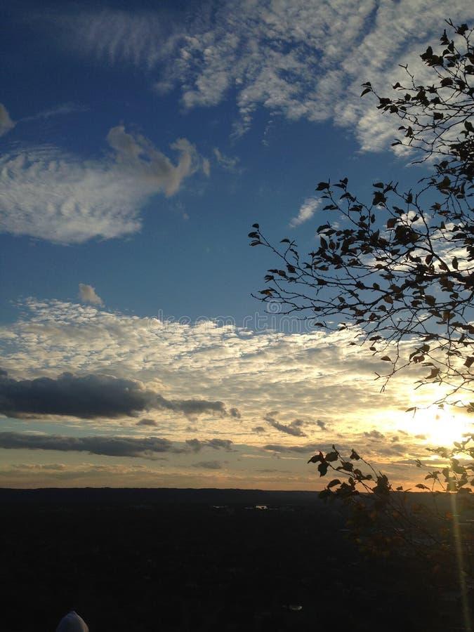Заход солнца вечера стоковые изображения rf