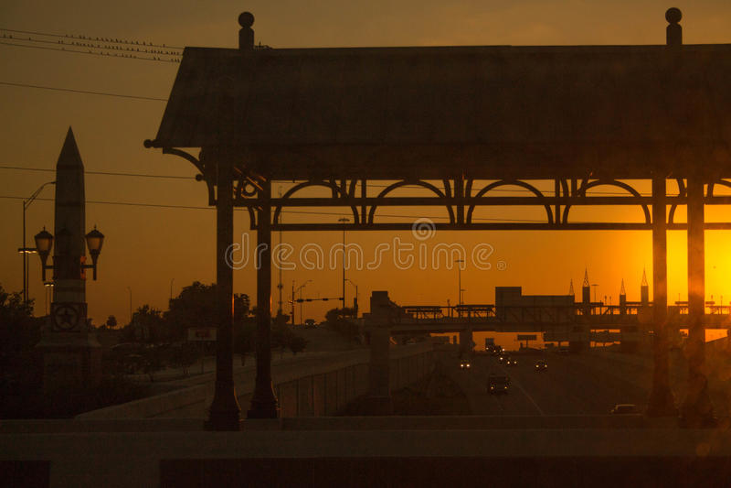 Заход солнца в Далласе стоковое изображение