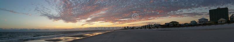 Заход солнца в заливе подпирает Алабаму стоковые фото