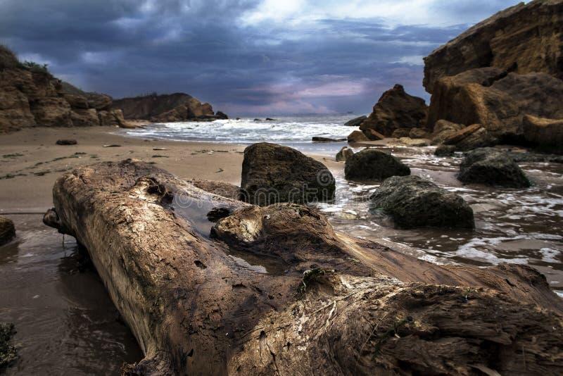 Заход солнца в заливе Чёрного моря стоковое фото