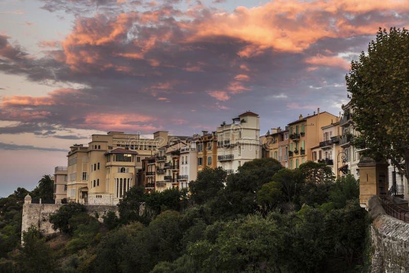 Заход солнца в Монако стоковые фото