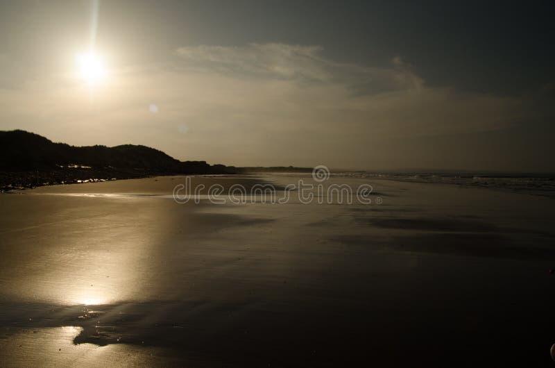 Заход солнца в Нортумберленде стоковые фотографии rf