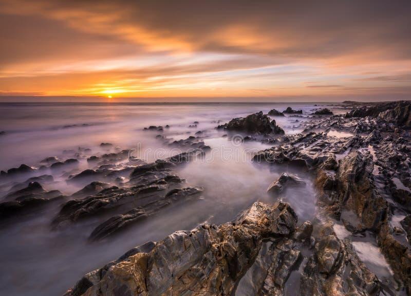 Заход солнца в осени! стоковые фотографии rf