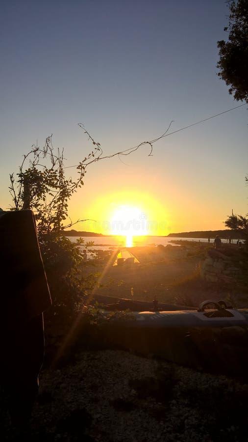 Заход солнца в связке стоковые фото