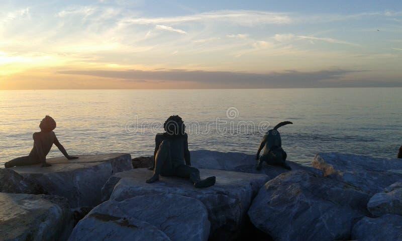 Заход солнца в Тоскане, Италии стоковое фото rf