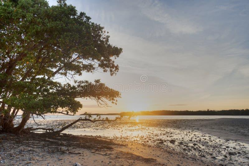 Заход солнца в 10 тысяч островах стоковое фото