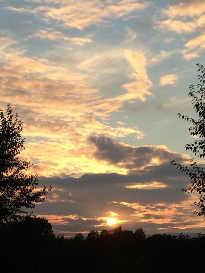 Заход солнца в Уфе стоковое изображение