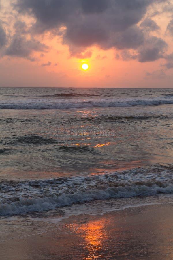 Заход солнца в Шри-Ланка стоковые фотографии rf