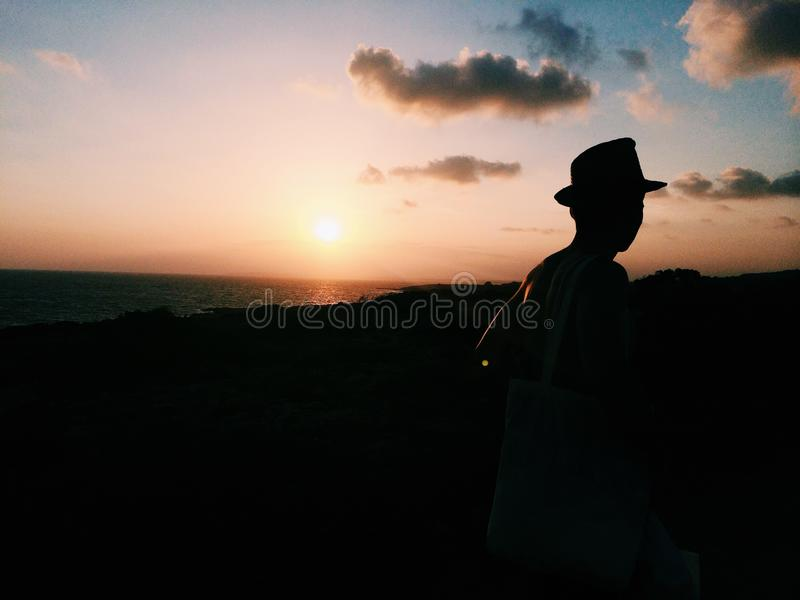 Заход солнца в Ayia Napa стоковое изображение