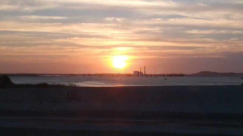 Заход солнца в Búzios/RJ стоковые изображения