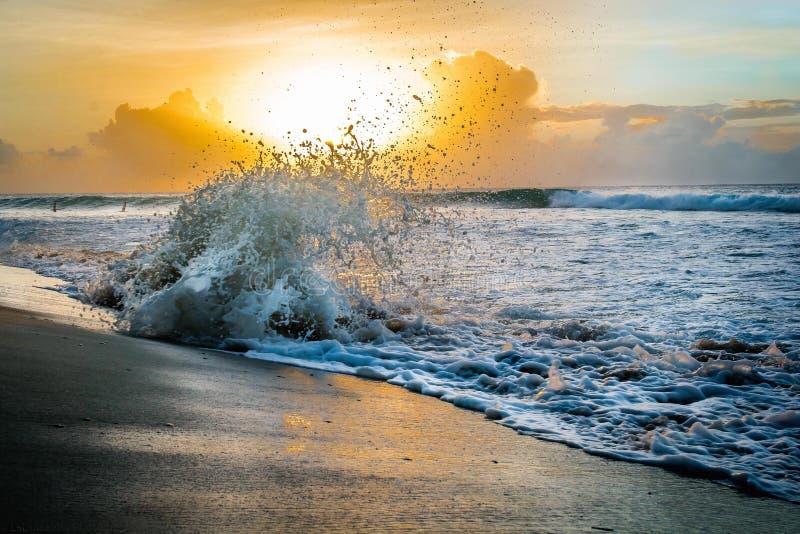 Заход солнца в Caribbean стоковое фото